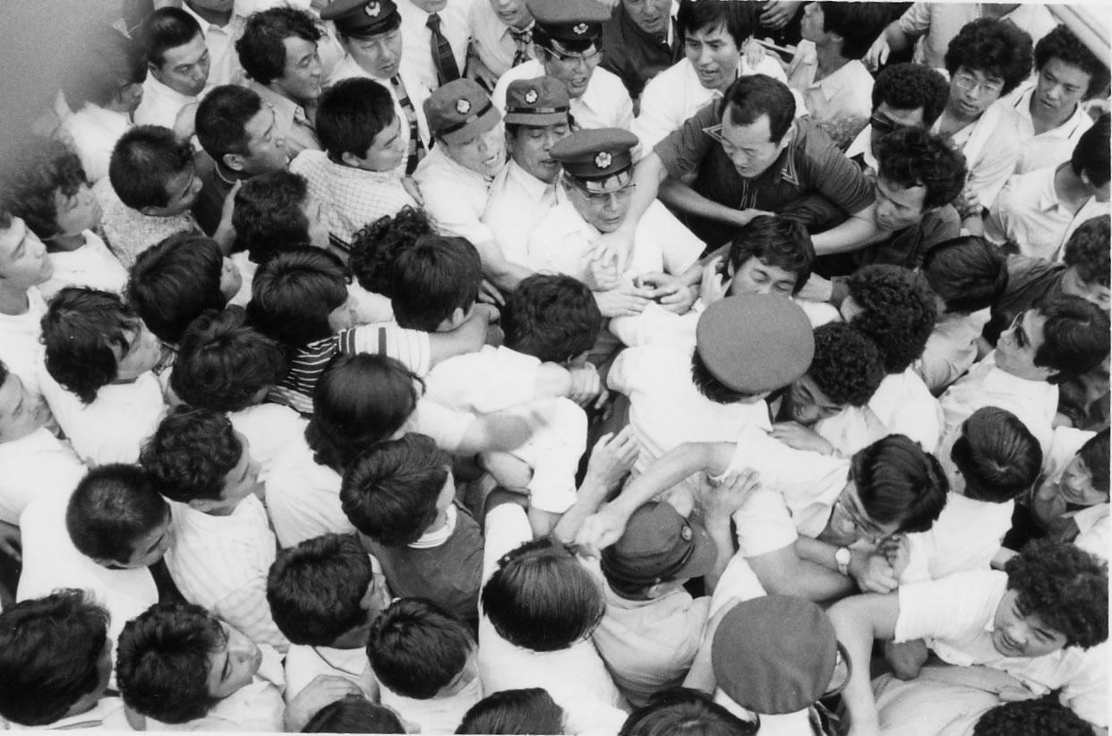 8.31津田沼支部防衛攻防戦 革マル分子と激突 津田沼 逃げる本部 8... 動労千葉 組織攻防